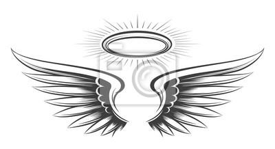 Fototapeta Saint wings sketch