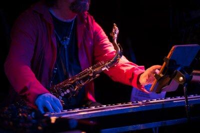 Fototapeta saksofonista na koncercie