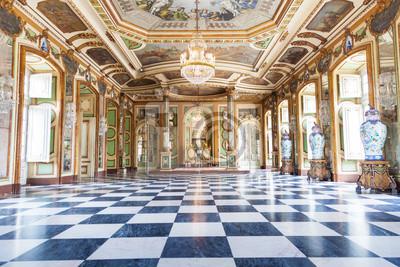 Fototapeta Sala Ambasadorów w Queluz National Palace, Portugalia