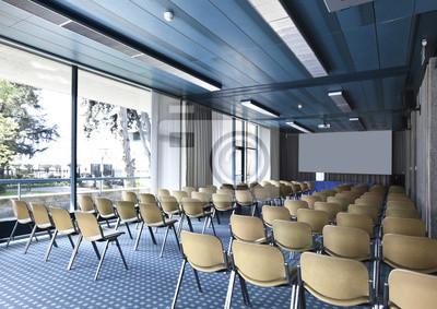 Fototapeta sala riunioni o conferenze con schermo