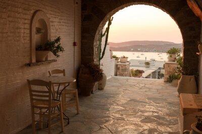 Fototapeta Sala tradycyjnym greckim domu na wyspie Paros