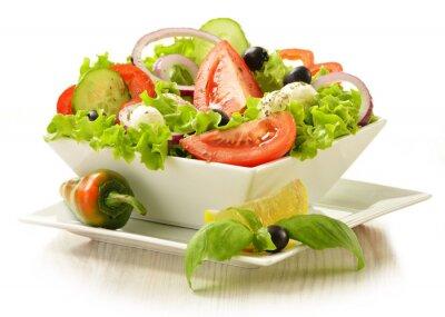 Fototapeta Salaterki warzyw samodzielnie na białym tle