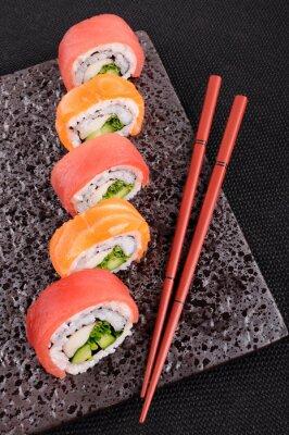 Fototapeta Salmon & Roll Sushi z tuńczyka