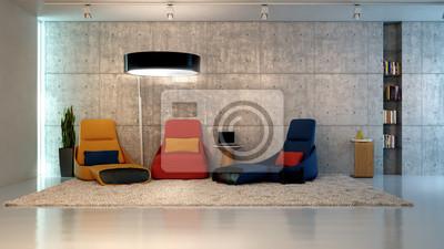 Fototapeta Salon Tadao Ando 3d