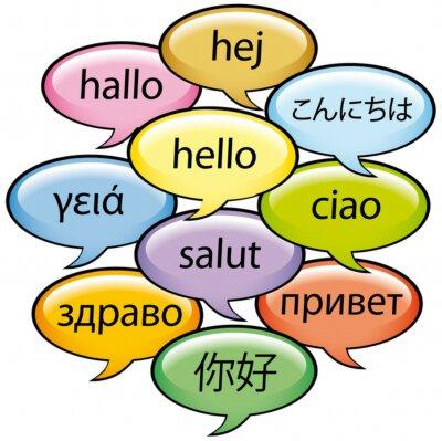 Fototapeta Saluti w dieci lingue