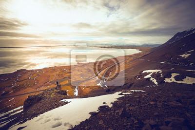 Sam człowiek, Stokksnes i Vestrahorn, Islandia