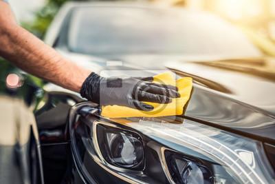 Fototapeta Samochód szczegółowo koncepcji. Automatyczne czyszczenie i polerowanie.