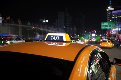 Fototapeta samochód taxi