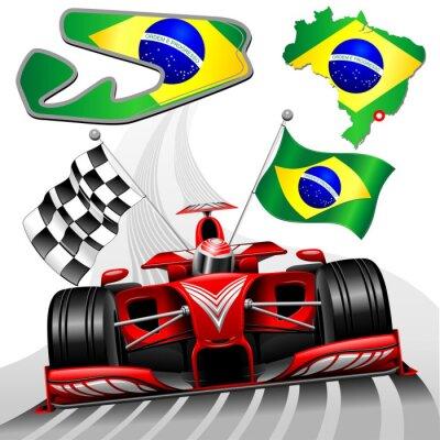 Fototapeta Samochodów wyścigowych Formuły 1 GP Brazylii