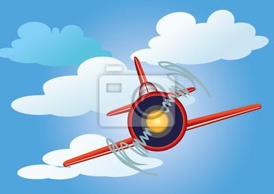 samolot na niebie z chmur