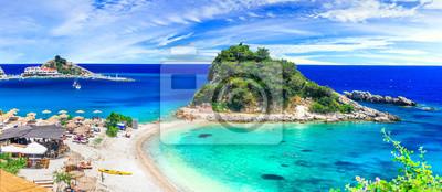 Fototapeta Samos island , beautiful Kokkari village with great beaches. Greece