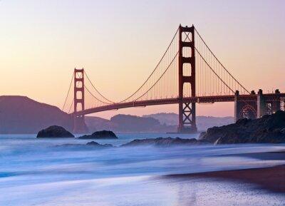 Fototapeta San Francisco's Golden Gate Bridge na zmierzchu