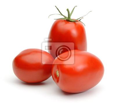 Fototapeta San marzano śliwkowi pomidory odizolowywający na białym tle