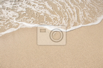 Fototapeta Sand and sea. Travel, seascape, summer, vacation concept. Place for your design.