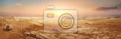 Fototapeta Sandy desert in Egypt