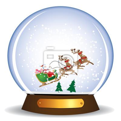 Santa Claus i sanki w świecie