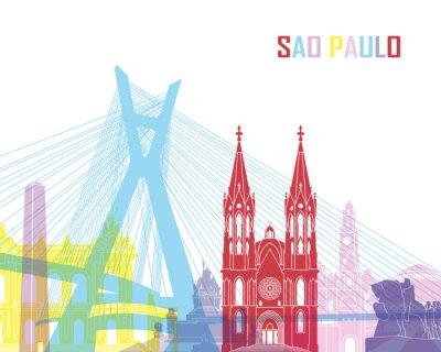 Fototapeta Sao Paulo skyline pop