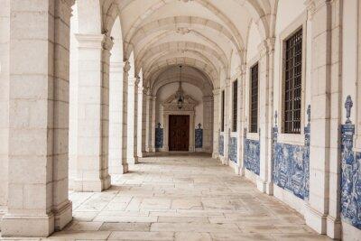 Fototapeta Sao Vicente de Fora detale architektoniczne w Lizbonie, Portugalia