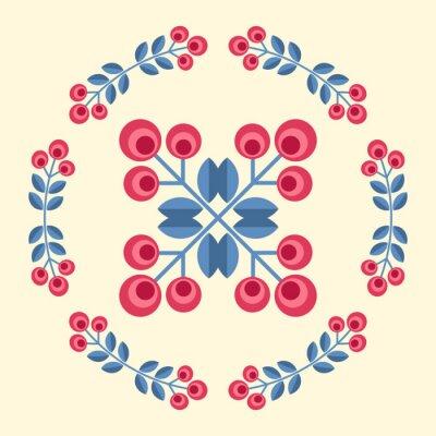 Fototapeta Scandinavian flowers