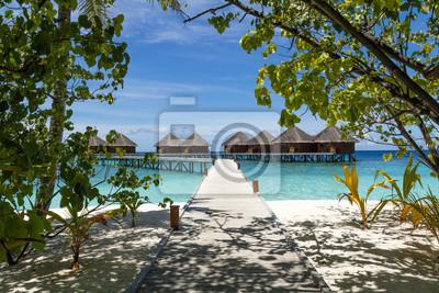 Fototapeta Sceneria Island Resort, Malediwy