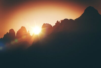 Fototapeta Scenic Alpine Sunset