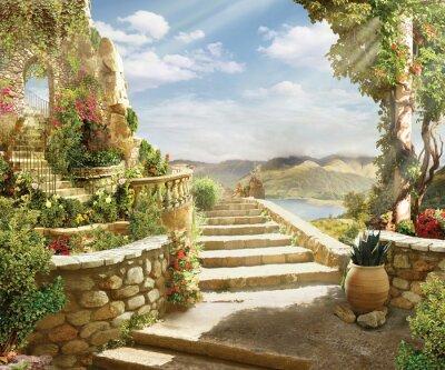 Fototapeta schody do nieba