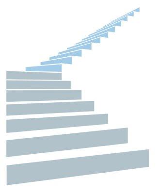 Fototapeta schody w niebie