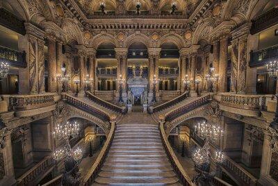 Fototapeta Schody wewnątrz Opery Palais Garnier