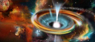 Fototapeta Schwarzes Loch mit Pulsar, Universum, Galaxie