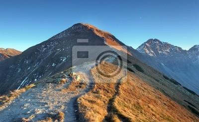 Fototapeta Ścieżka w wysokiej Tatry Zachodnie - Rohacze