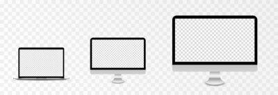 Fototapeta Screen vector mockup. Mockup of laptop, monitor with blank screen. PNG.