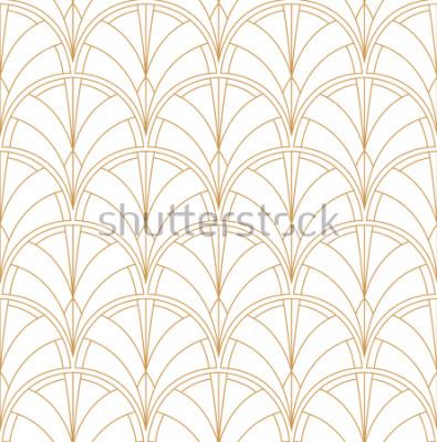 Fototapeta Seamless Art Deco Pattern. Vintage minimalistyczne tło. Abstrakcjonistyczna Luksusowa ilustracja.