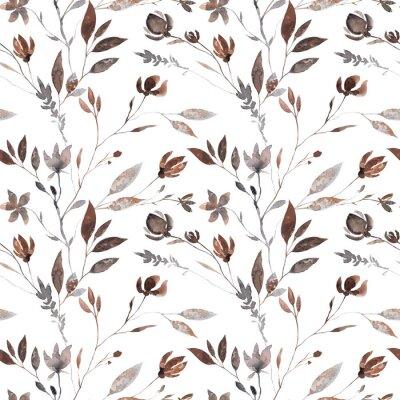 Fototapeta Seamless boho watercolor pattern.