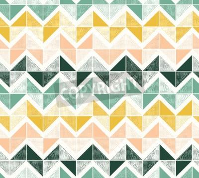 Fototapeta seamless dots geometric triangle zigzag pattern