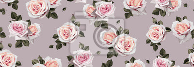 Seamless floral pattern with flowers. Template design for textiles, interior, clothes, wallpaper. Vector illustration art