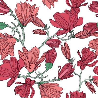 Fototapeta Seamless floral texture