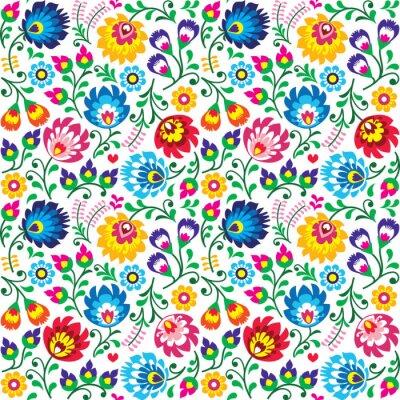 Fototapeta Seamless Polish folk art floral pattern