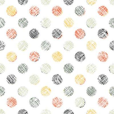 Fototapeta Seamless Polka Dot Pattern Textured