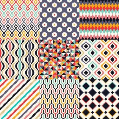 Fototapeta Seamless retro geometryczny wzór