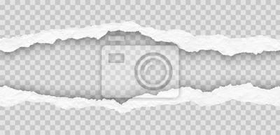 Fototapeta seamless torn paper edges, vector illustration