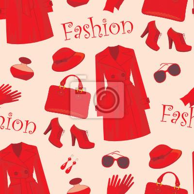 Seamless wzór mody