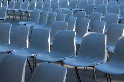Fototapeta sedie in fila