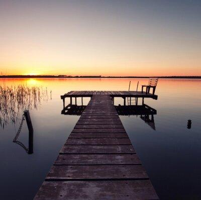 Fototapeta Seenlandschaft und Steg