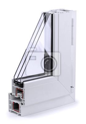 Fototapeta Sekcja profili okiennych z tworzywa sztucznego