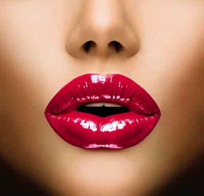 Fototapeta Seksowne usta. Pocałunek