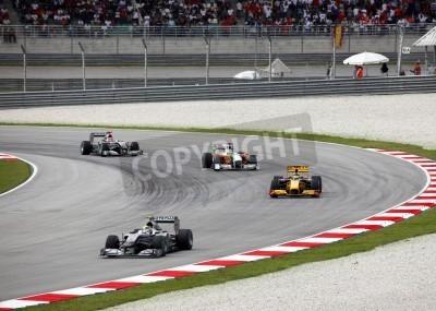 Fototapeta SEPANG, MALAYSIA - APRIL 4 : Malaysian Grand Prix at Sepang F1 first circuit April 4, 2010 in Sepang