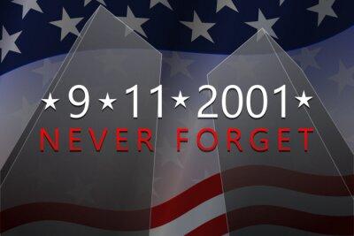 Fototapeta September, 11, 2001 - Patriot Day background. 9-11 Never Forget banner. Vector illustration.