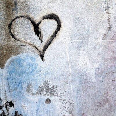 Fototapeta Serce malowane na ścianie