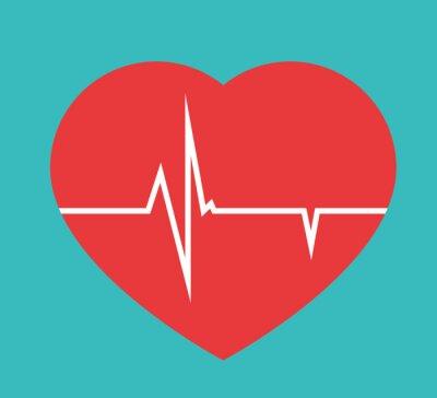 Fototapeta Serce medyczne dla kardiologa w szpitalu