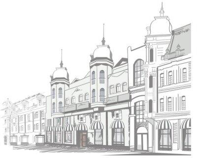 Fototapeta Seria ulicę w starym mieście